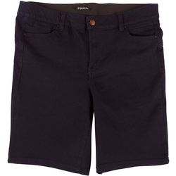 D. Jeans Plus Body Shaping Solid Bermuda Shorts