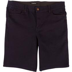 Plus Body Shaping Solid Bermuda Shorts