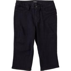D. Jeans Plus Muffin Eliminator Solid Capris