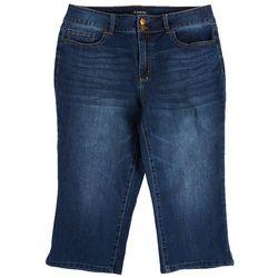 D Jeans Capri Womens Solid Capris