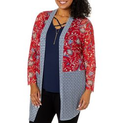 Tru Self Plus 3-pc. Floral Mix Print Mesh Kimono Set