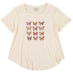 Tru Self Plus Butterfly Months Short Sleeve Top