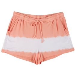 Tru Self Plus Tie Dye Drawstring Fabric Shorts