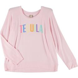 Plus Tequila Long Sleeve Graphic Sweater