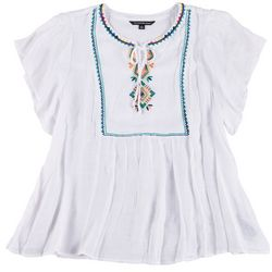 Zac & Rachel Plus Embroidered Front Top