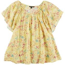 Zac and Rachel Plus Floral Short Sleeve Top