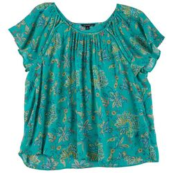 Zac & Rachel Plus Paisley Cutout Blouse