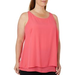 Zac & Rachel Plus Solid Tiered Sleeveless Top