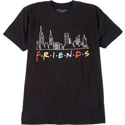 Friends Womens Plus Logo Crew Neck T-Shirt