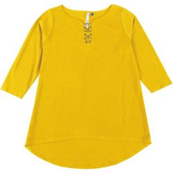 NY Collection Plus 3-Ring Solid Blouse