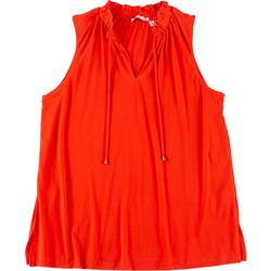Notations Plus Solid Keyhole Sleeveless Top