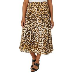 Gilli Plus Leopard Print Skirt
