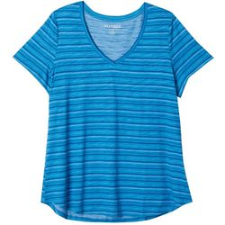 Dept 222 Plus Geo Stripe Print V-Neck T-Shirt