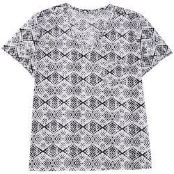 Dept 222 Womens Plus Diamond Pocketed V-Neck Shirt