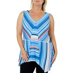 Skye's The Limit Plus Stripe Spliced Sleeveless Top