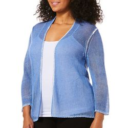 Skye's The Limit Plus Open Front Knit Cardigan