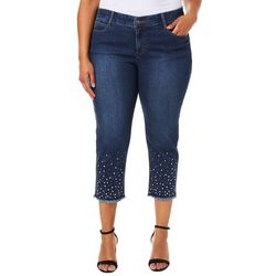 Skye's The Limit Plus Pearl Embellished Crop Jeans
