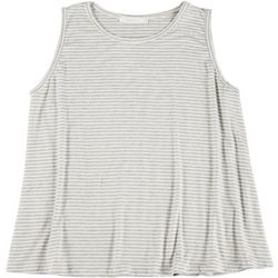 Lush Plus Striped Flowy Sleeveless Top