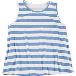 Lush Plus Nautical Striped Flowy Sleeveless Top