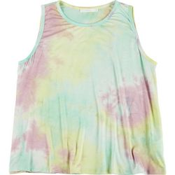 Lush Plus Rainbow Tie Dye Sleeveless Tank