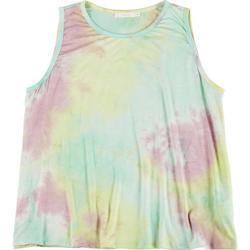 Plus Rainbow Tie Dye Sleeveless Tank