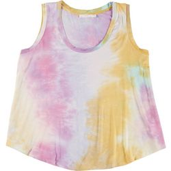 Lush Plus Tie Dye Scoop Neck Sleeveless Tank