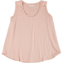 Lush Plus Solid Flowy Scoop Neck Sleeveless Top