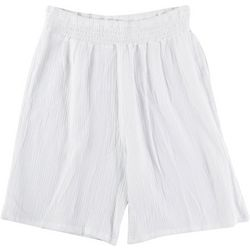 Kaktus Plus Solid Drawstring Gauze Shorts