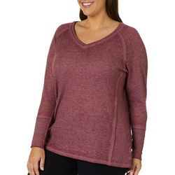 Como Blu Plus Mineral Wash Waffle Knit Thermal Top
