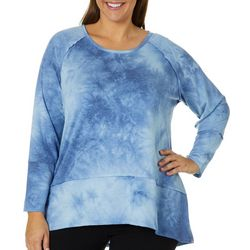 Como Blu Plus Tie Dye Raglan Top