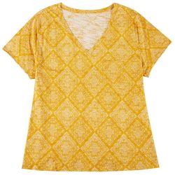 Dept 222 Plus Tile Print V-Neck T-Shirt