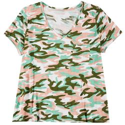 Dept 222 Plus Camo Chest Pocket V-Neck T-Shirt