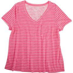 Dept 222 Plus Classic Stripe Front Pocket T-Shirt