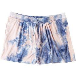 AVA JAMES Plus Bicolor Tie-Dye Shorts