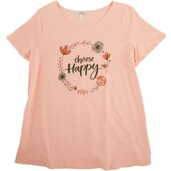 Flora & Sage Plus Choose Happy T-shirt