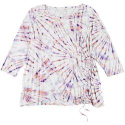 Ava James Plus Tie Dye Elastic Tie Top