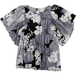 Ava James Plus Floral Top