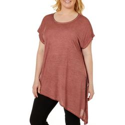 Dantelle Plus Mineral Wash Asymmetrical Hem Top