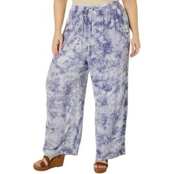 Studio West Plus Tie Dye Embroidered Pull On Capris