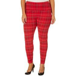 Khakis & Co Plus Suave Plaid Print Pants