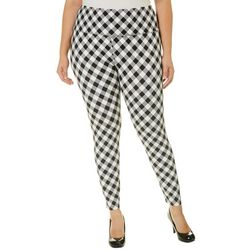 Khakis & Co Plus Suave Gingham Print Leggings