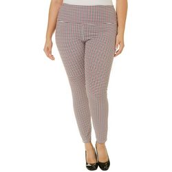 Khakis & Co Plus Suave Houndstooth Print Leggings