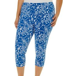 Khakis & Co Plus Tropical Capri Leggings