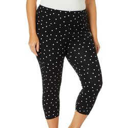 Khakis & Co Plus Suave Polka Dot Capris