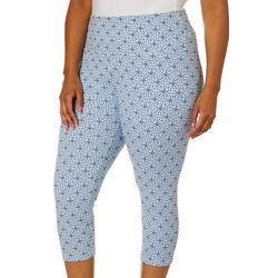 Khakis & Co Plus Suave Tile Print Capri Leggings