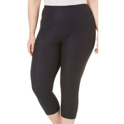Khakis & Co Plus Suave Denim Legging Stretch Capris