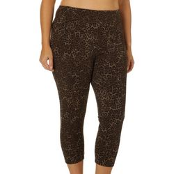 Khakis & Co Plus Suave Cheetah Print Leggings