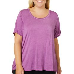 CG Sport Plus Mineral Wash Mesh Back Top