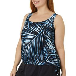 Maxine Plus Moonlight Tankini Print Blouson Tankini Top