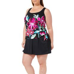 Maxine Plus In Full Bloom Tiered Mio One Piece Swimsuit